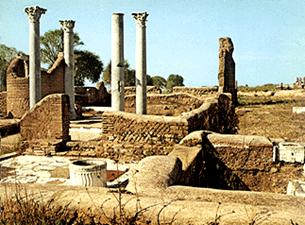 A zsinagóga romjai