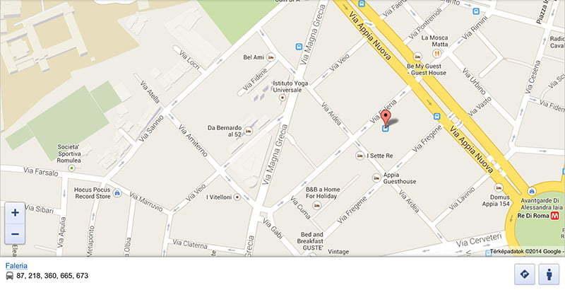 Róma közlekedési térkép iPad